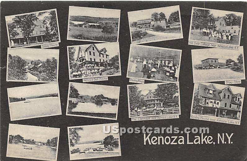 Gidney House, Kenoza Dell House - Kenoza Lake, New York NY Postcard
