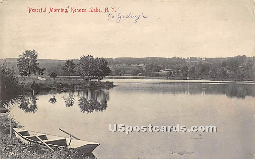 Peaceful Morning - Kenoza Lake, New York NY Postcard