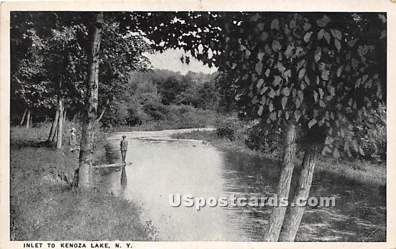 Inlet - Kenoza Lake, New York NY Postcard