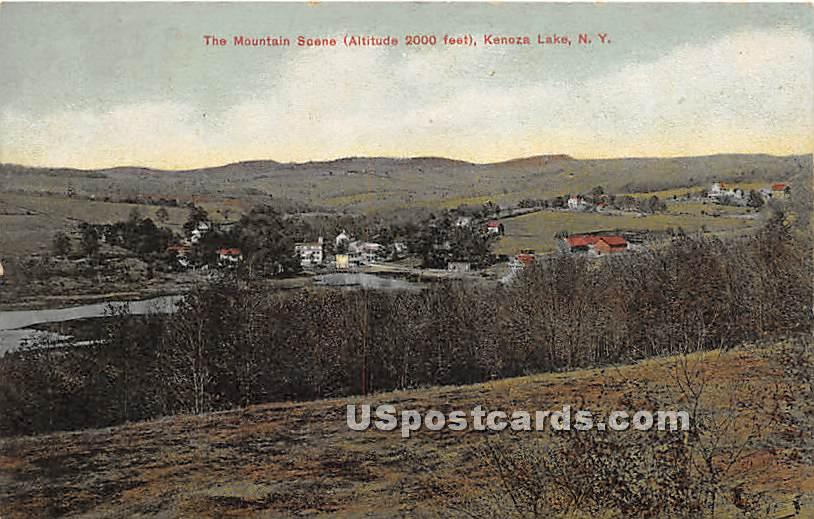 Mountain Scene - Kenoza Lake, New York NY Postcard