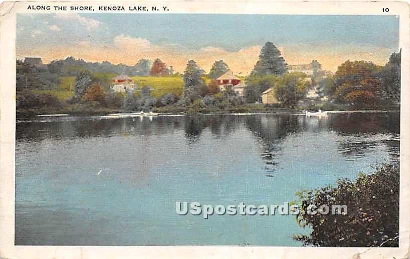 Along the Shore - Kenoza Lake, New York NY Postcard