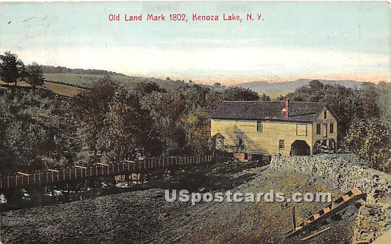 Old Land Mark 1802 - Kenoza Lake, New York NY Postcard