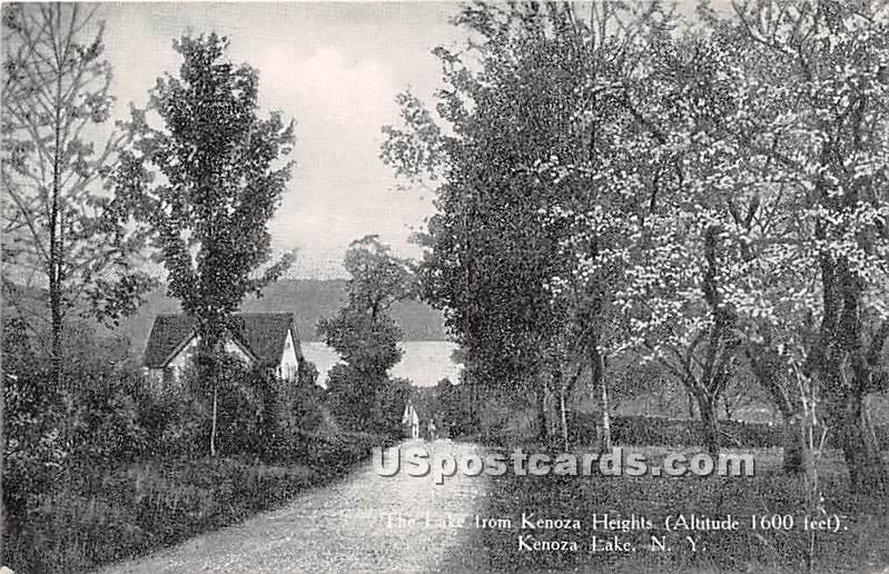 The Lake from Kenoza Heights - Kenoza Lake, New York NY Postcard