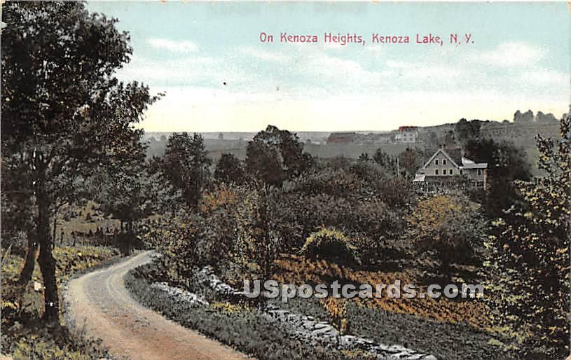 On Kenoza Heights - Kenoza Lake, New York NY Postcard