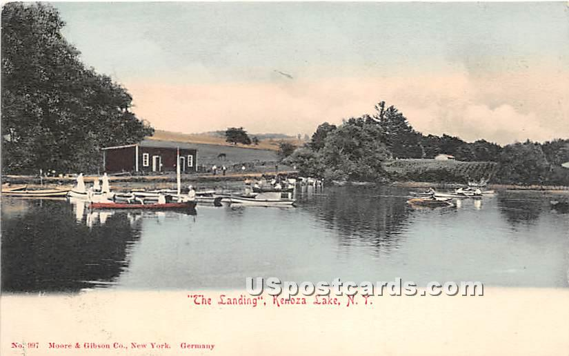 The Landing - Kenoza Lake, New York NY Postcard