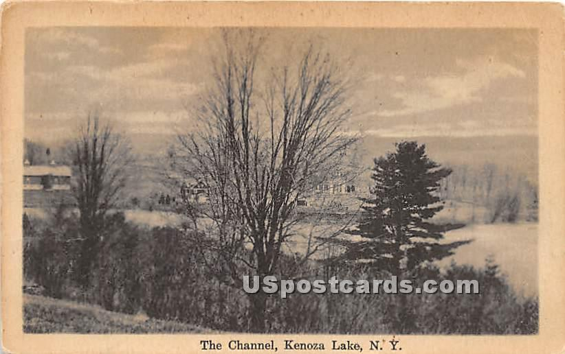 The Channel - Kenoza Lake, New York NY Postcard