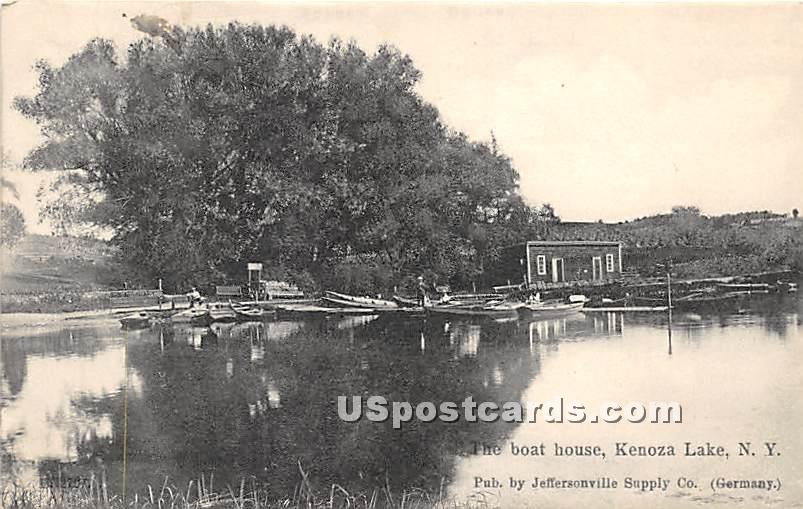 The Boat House - Kenoza Lake, New York NY Postcard