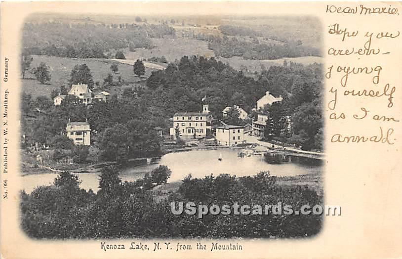 View from the Mountain - Kenoza Lake, New York NY Postcard