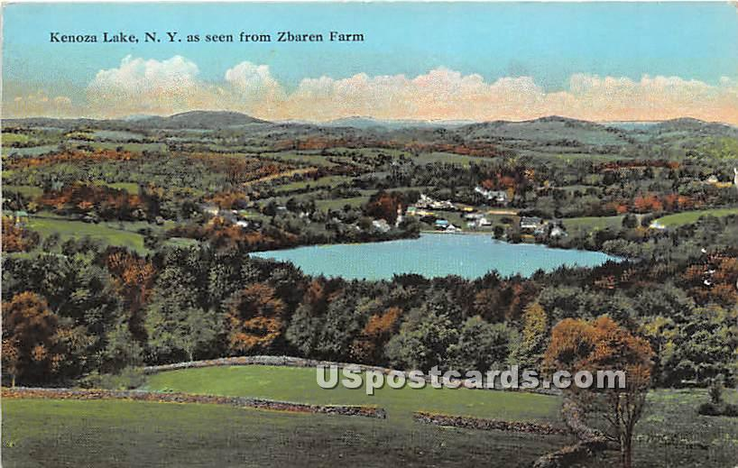 Seen from Zbaren Farm - Kenoza Lake, New York NY Postcard