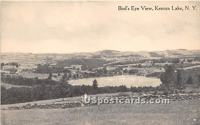 Birds Eye View - Kenoza Lake, New York NY Postcard