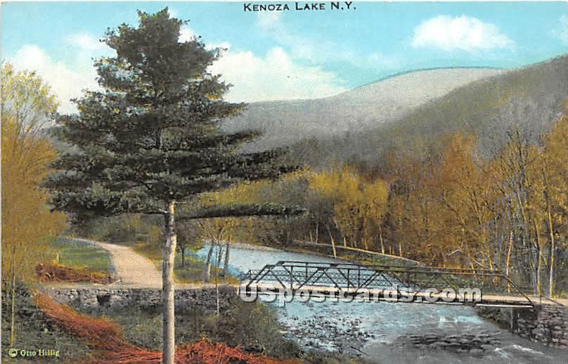 Bridge - Kenoza Lake, New York NY Postcard