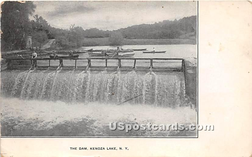The Dam - Kenoza Lake, New York NY Postcard