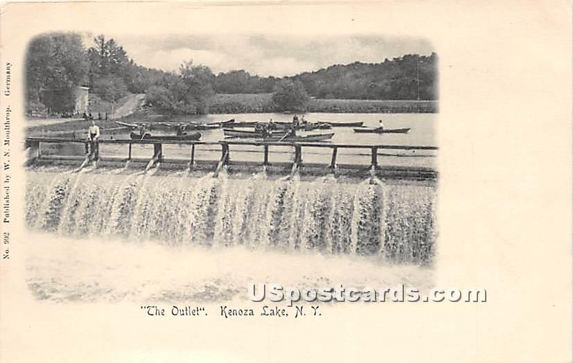 The Outlet - Kenoza Lake, New York NY Postcard