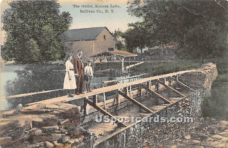 The Outlet - Kenoza Lake, New York NY Postcard