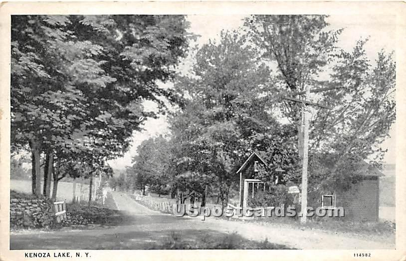 Road Scene - Kenoza Lake, New York NY Postcard