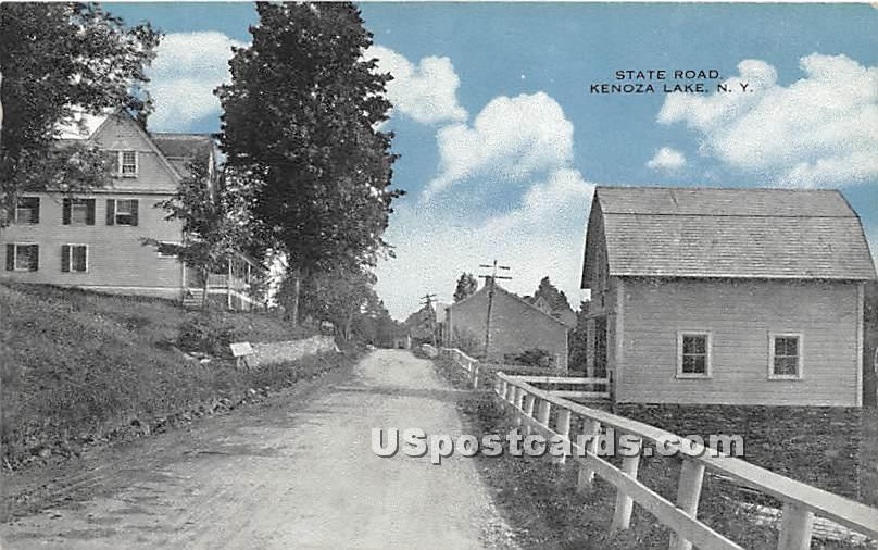 State Road - Kenoza Lake, New York NY Postcard