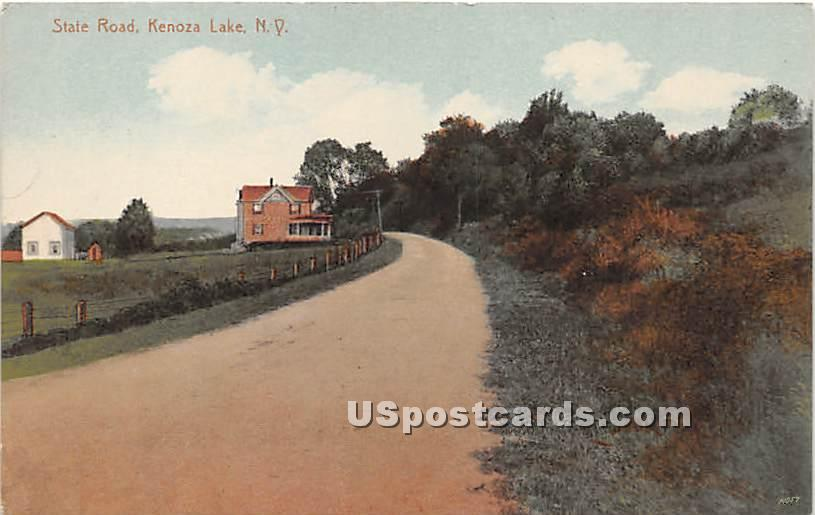 State Road - Kenoza Lake, New York NY Postcard