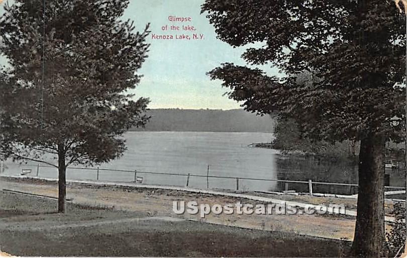 Glimpse of the Lake - Kenoza Lake, New York NY Postcard