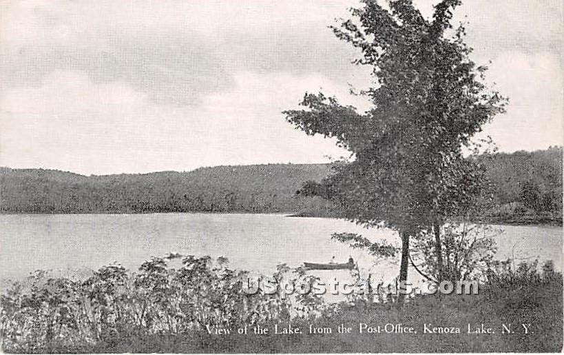 View of the Lake - Kenoza Lake, New York NY Postcard