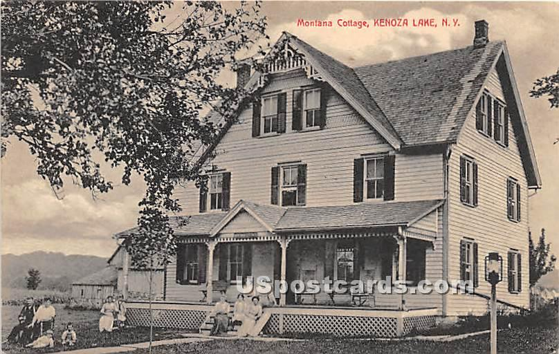 Montana Cottage - Kenoza Lake, New York NY Postcard