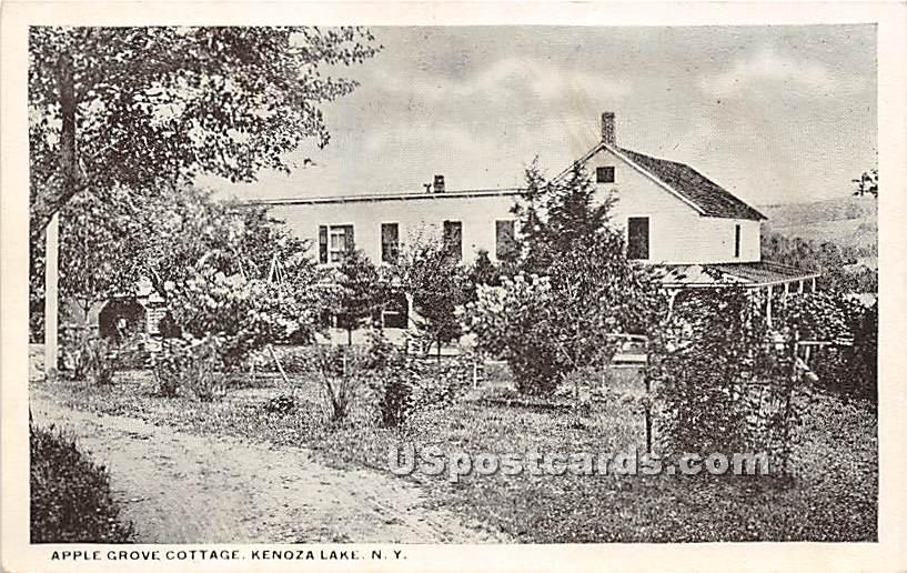 Apple Grove Cottage - Kenoza Lake, New York NY Postcard