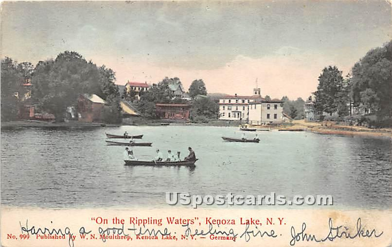 On the Rippling Waters - Kenoza Lake, New York NY Postcard