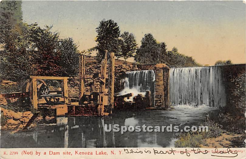 Not by a Dam Site - Kenoza Lake, New York NY Postcard