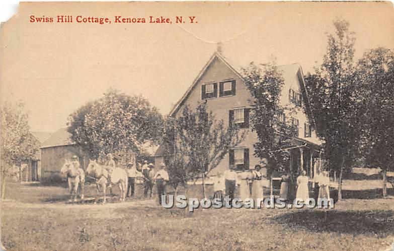 Swiss Hill Cottage - Kenoza Lake, New York NY Postcard