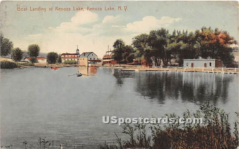 Boating Landing - Kenoza Lake, New York NY Postcard