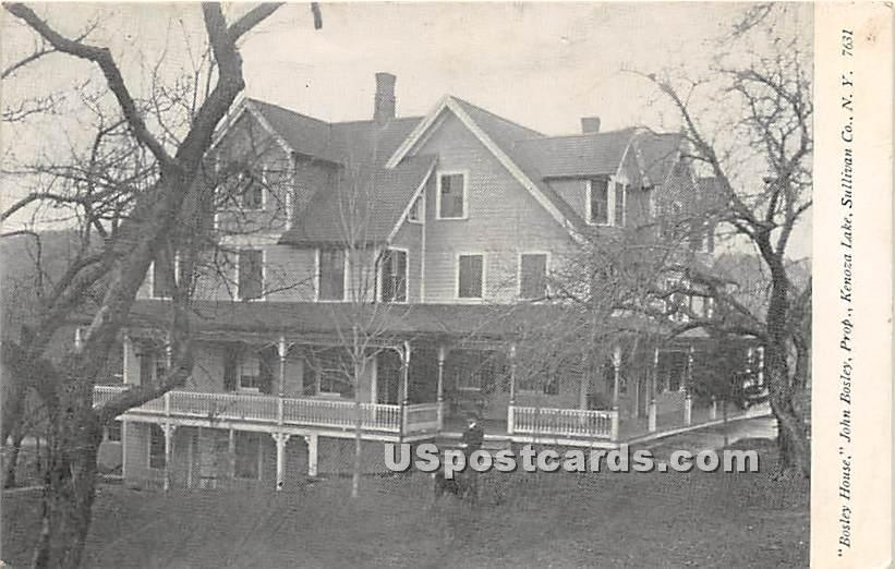 Bosley House - Kenoza Lake, New York NY Postcard