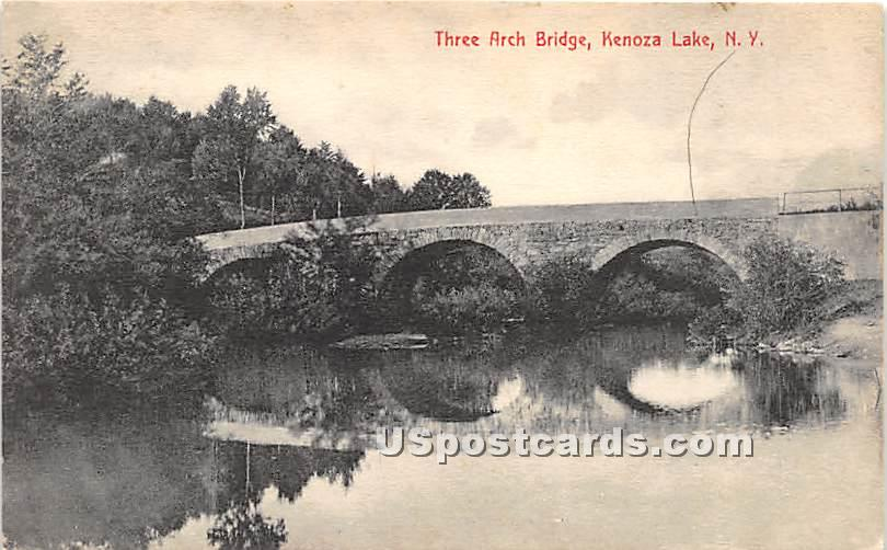 Three Arch Bridge - Kenoza Lake, New York NY Postcard