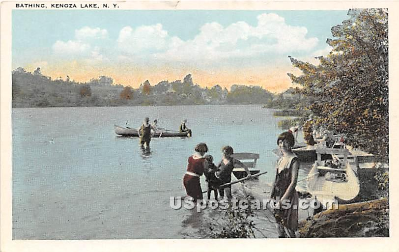 Bathing - Kenoza Lake, New York NY Postcard