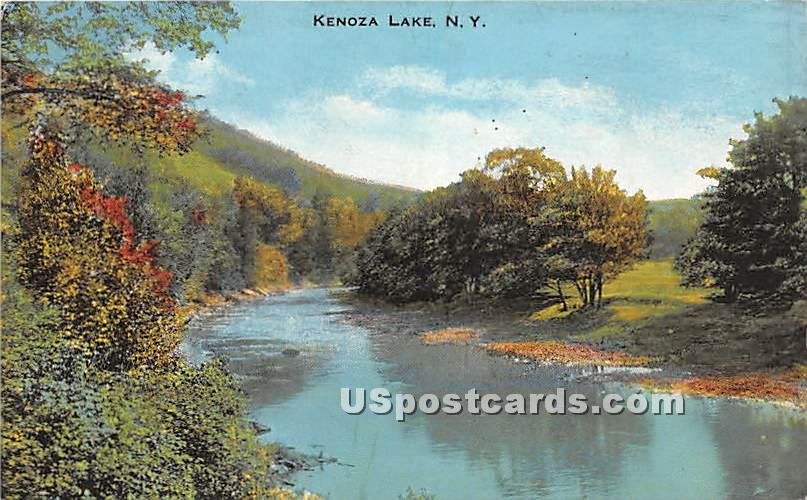 Water View - Kenoza Lake, New York NY Postcard
