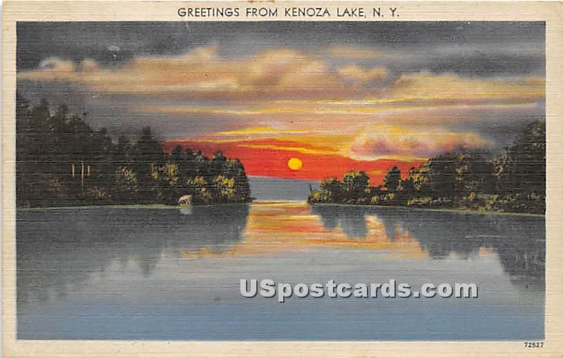 Greetings from - Kenoza Lake, New York NY Postcard