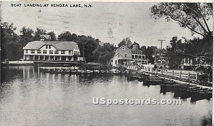 Boat Landing - Kenoza Lake, New York NY Postcard