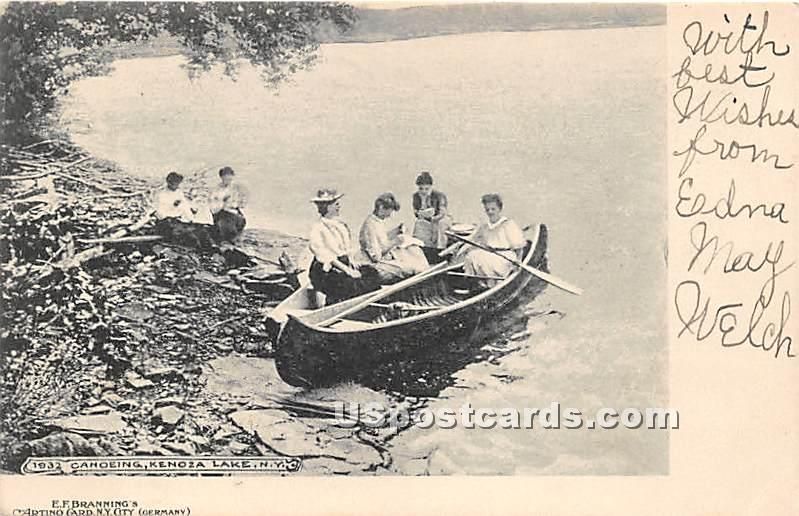Canoeing - Kenoza Lake, New York NY Postcard