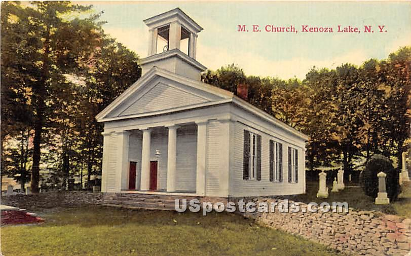 M E Church - Kenoza Lake, New York NY Postcard