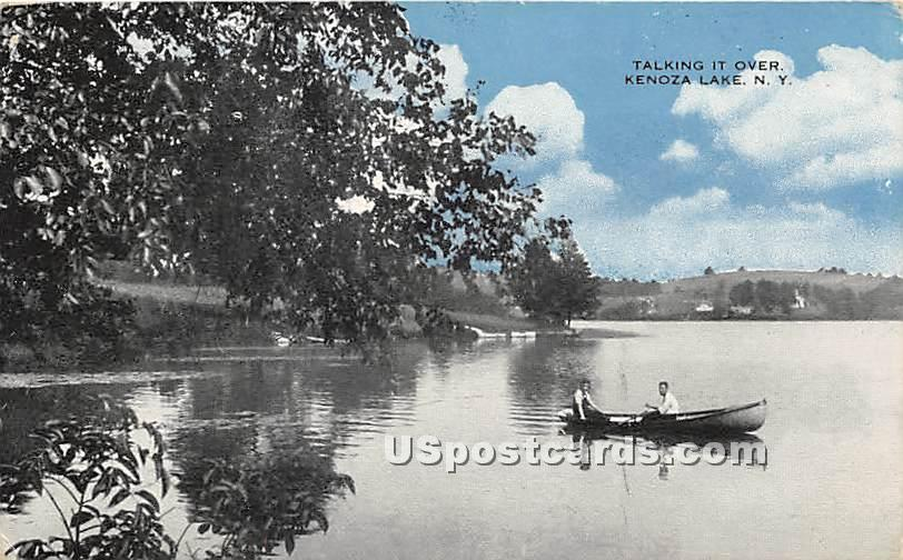 Talking it Over - Kenoza Lake, New York NY Postcard