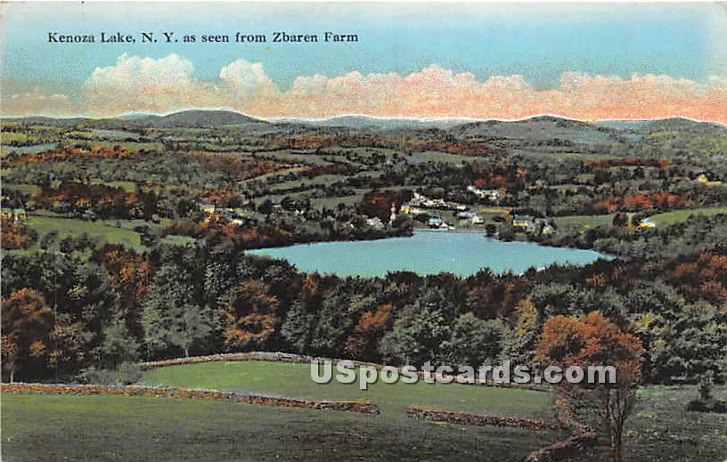 View from Zbaren Farm - Kenoza Lake, New York NY Postcard