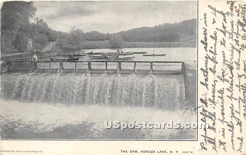 The Dam - Kenoza Lake, New York NY Postcard