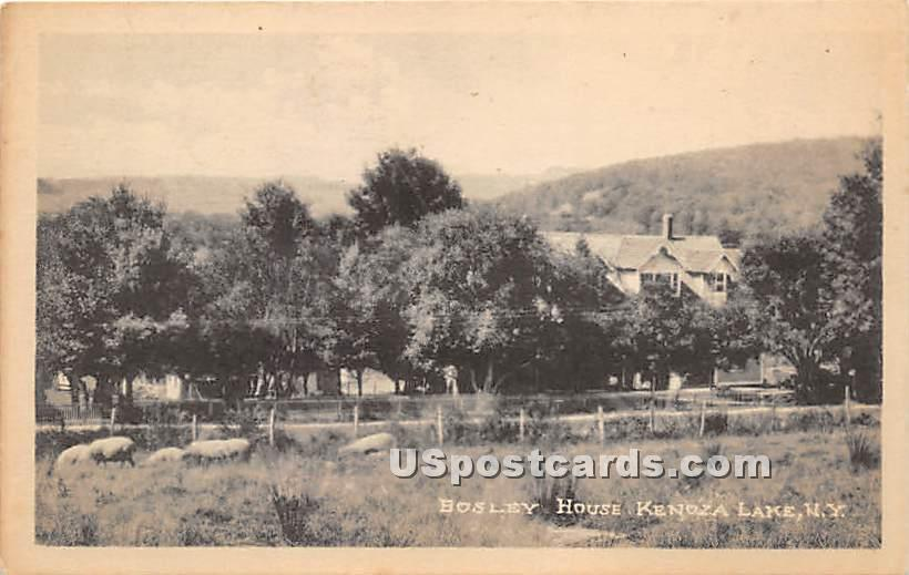 Bosley House - Kenoza Lake, New York NY Postcard