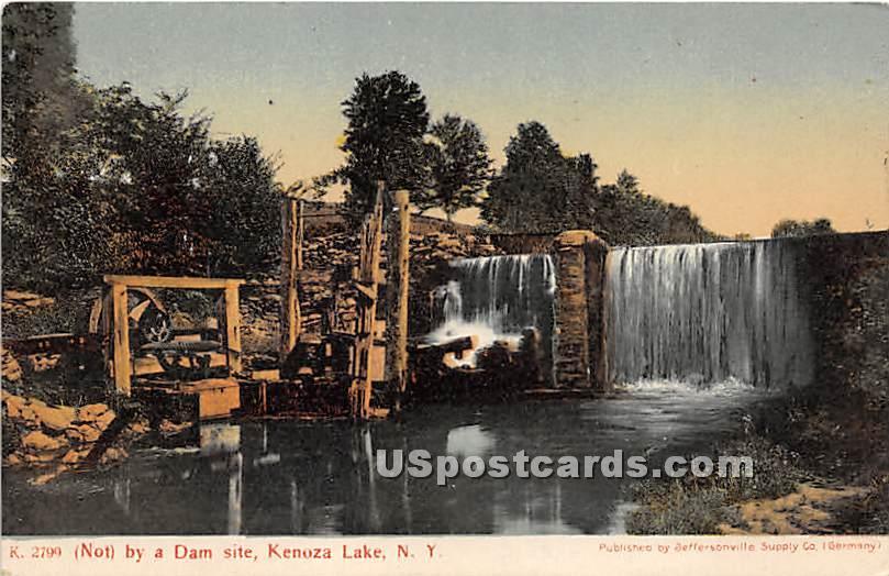 Not by a Dam Site - Kenoza Lake, New York NY Postcard