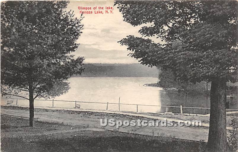 Glimpse of the Lake - Kenoza Lake, New York NY Postcard