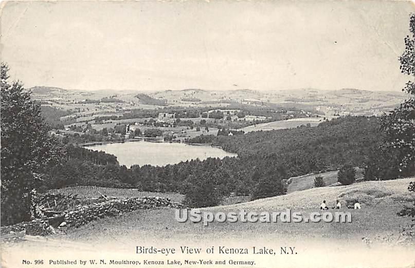 Birds Eye View - Kenoza Lake, New York NY Postcard