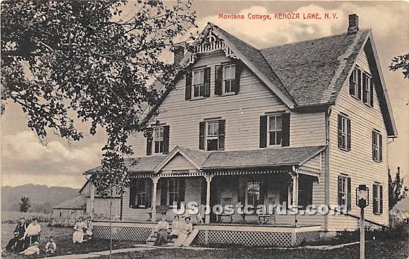 Montana Cottage - Kenoza Lake, New York NY Postcard