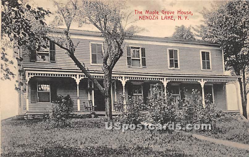 Maple Grove House - Kenoza Lake, New York NY Postcard