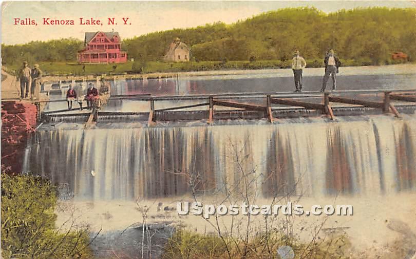 Falls - Kenoza Lake, New York NY Postcard