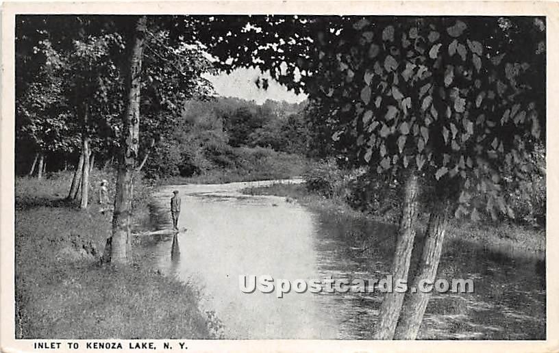 Inlet - Kenoza Lake, New York NY Postcard