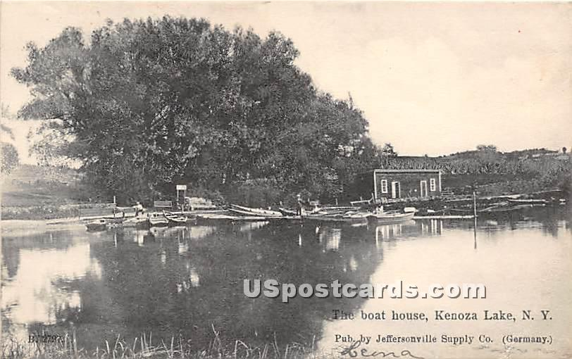 The Boat House - Kenoza Lake, New York NY Postcard