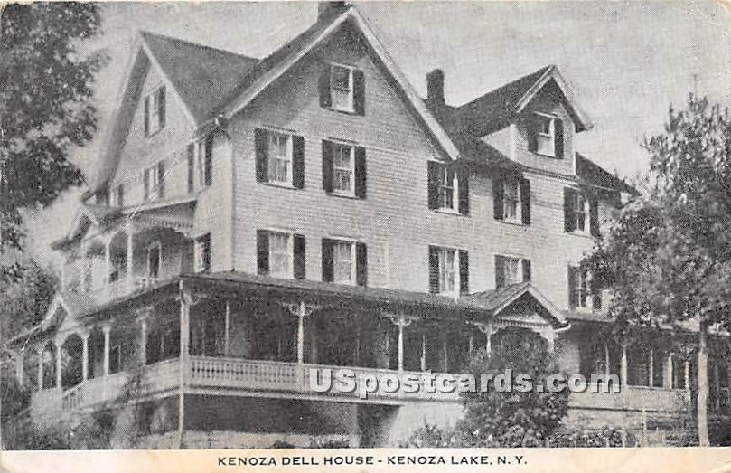 Kenoza Dell House - Kenoza Lake, New York NY Postcard
